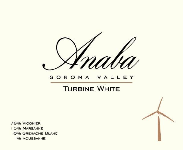 Anaba Turbine White 2015  Front Label