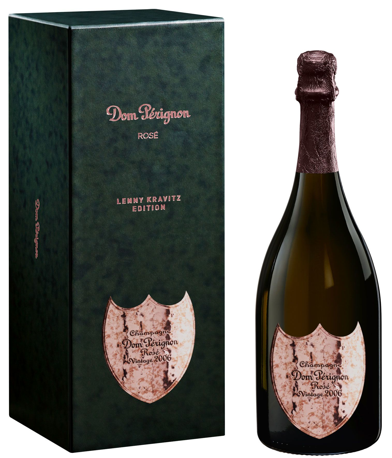 Dom Perignon Rose Lenny Kravitz Limited Edition with Gift Box 2006  Gift Product Image