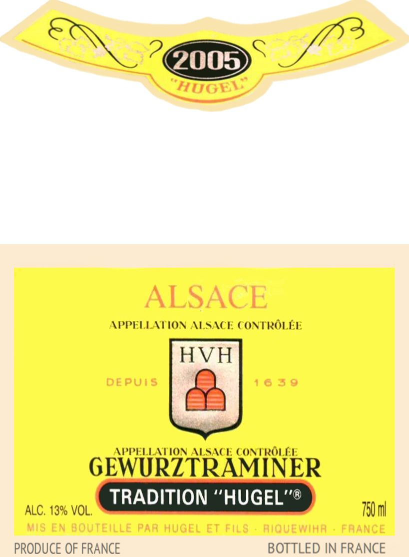 Hugel Tradition Gewurtztraminer 2005  Front Label
