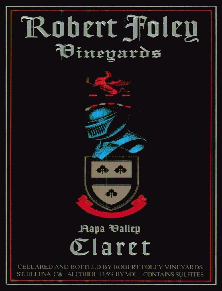 Robert Foley Vineyards Claret (3 Liter - signed) 2002  Front Label