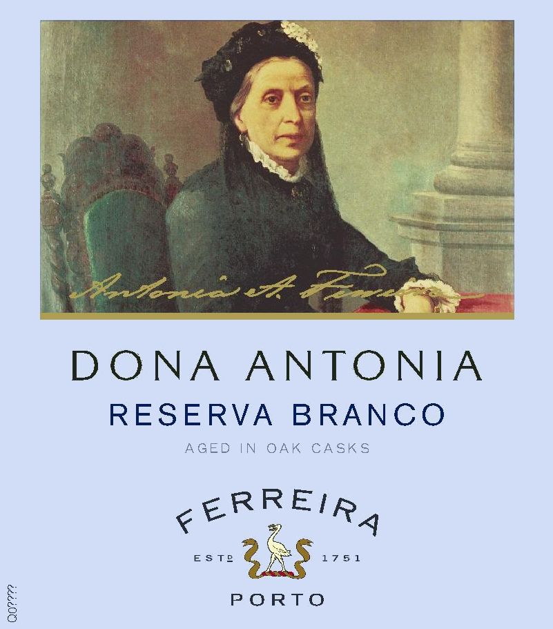 Ferreira Dona Antonia Reserva White Port Front Label
