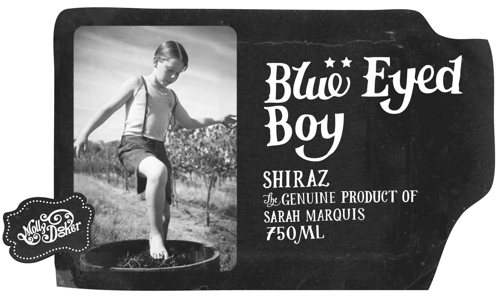 Mollydooker Blue Eyed Boy Shiraz 2018  Front Label