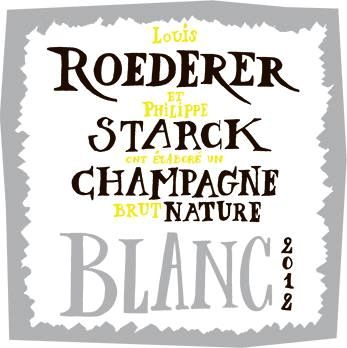 Louis Roederer Brut Nature Philippe Starck Label 2012  Front Label