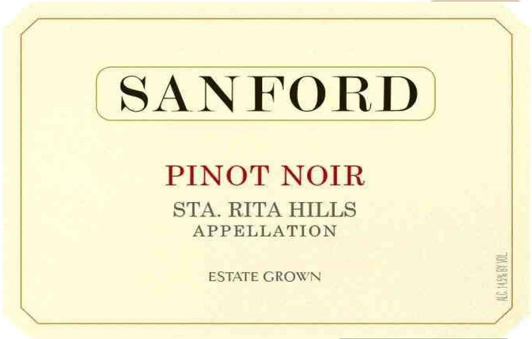 Sanford Sta. Rita Hills Pinot Noir (375ML half-bottle) 2016  Front Label