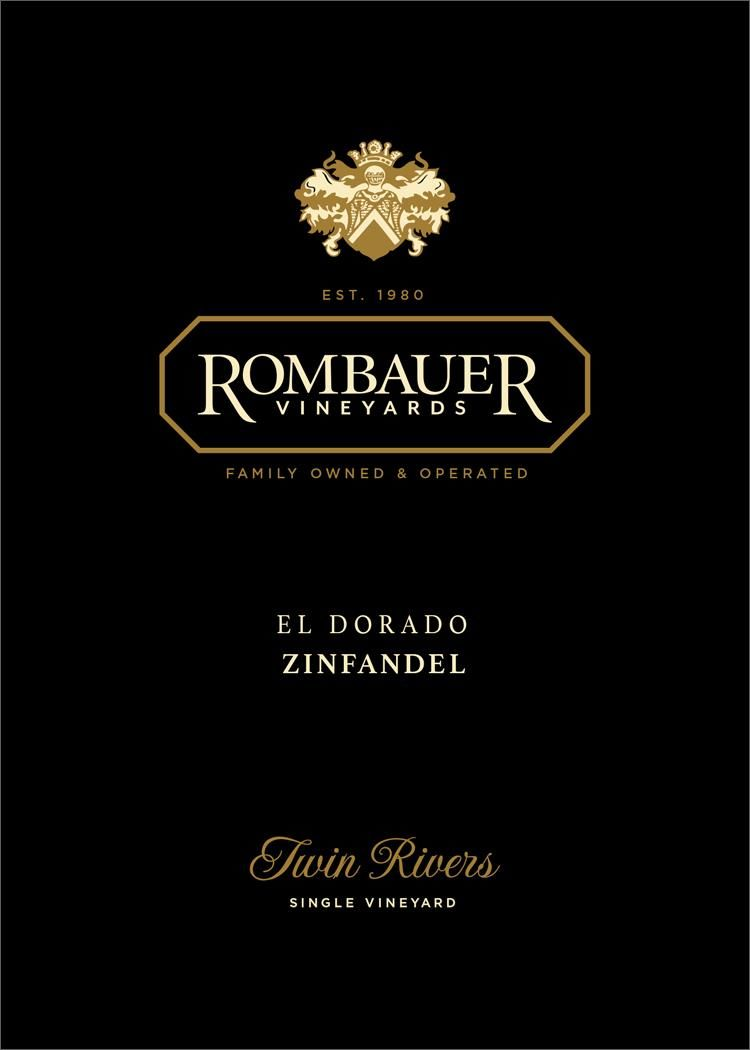 Rombauer El Dorado Twin Rivers Zinfandel 2017  Front Label