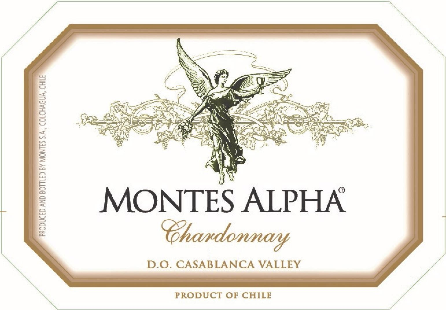 Montes Alpha Series Chardonnay 2016 Front Label