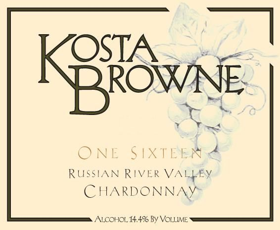 Kosta Browne One Sixteen Chardonnay (375ML half-bottle) 2014 Front Label