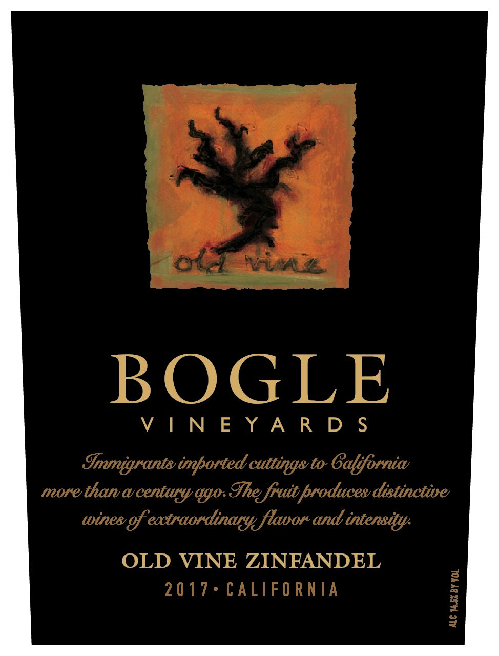 Bogle Old Vines Zinfandel 2017  Front Label