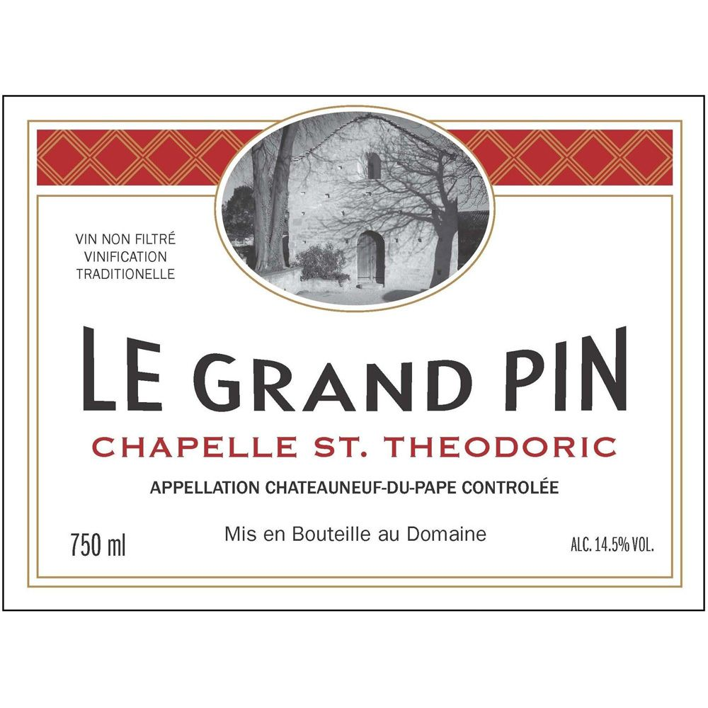 Chapelle St. Theodoric Chateauneuf-du-Pape Le Grand Pin 2017  Front Label
