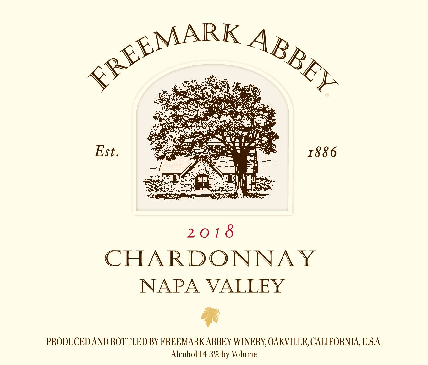 Freemark Abbey Chardonnay 2018  Front Label