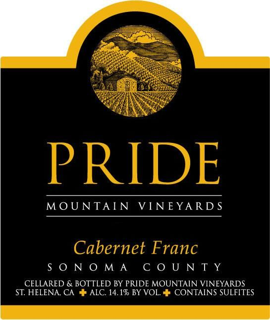 Pride Mountain Vineyards Cabernet Franc 1997  Front Label