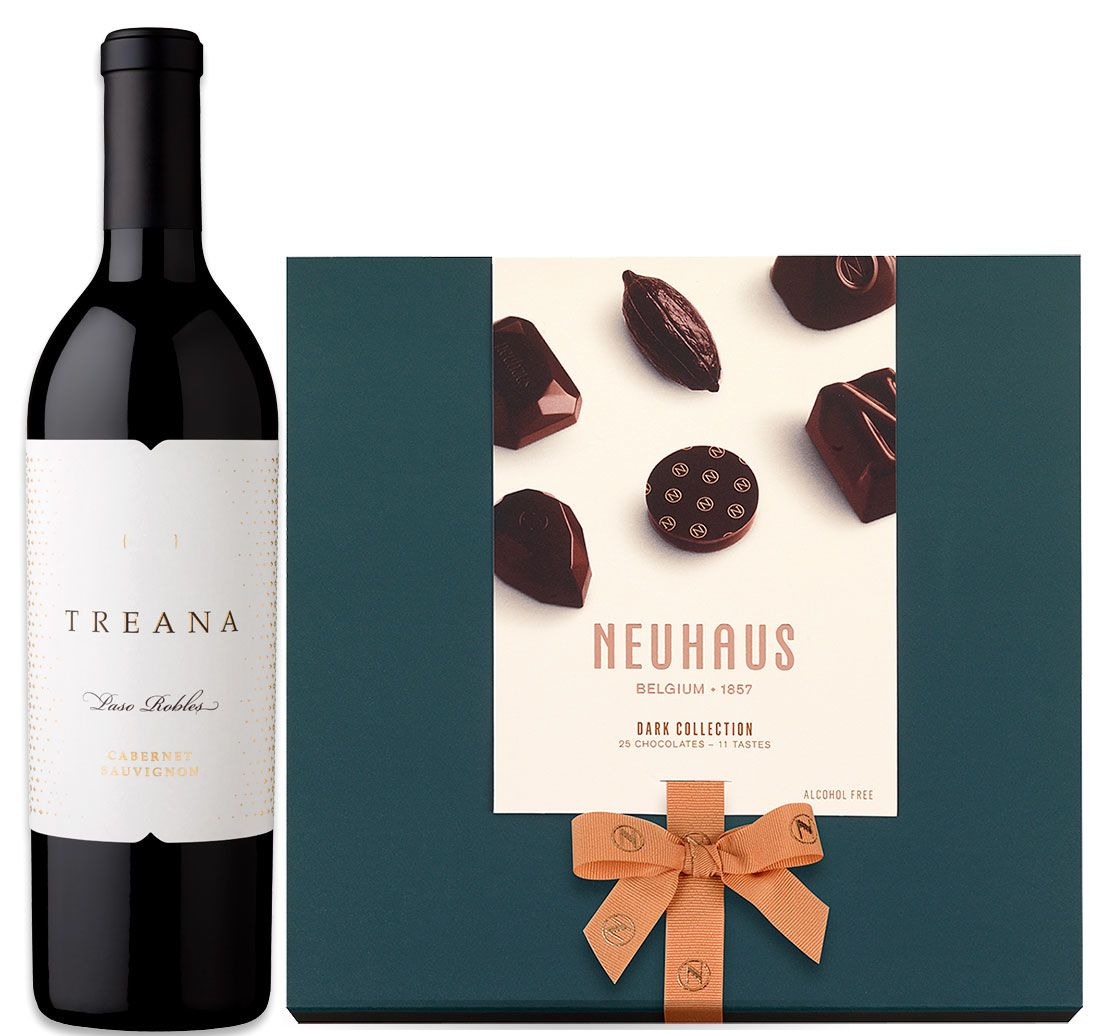 wine.com 91 Point Cabernet Sauvignon & Belgian Dark Chocolates  Gift Product Image