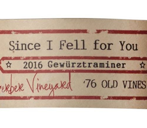 Ovum Since I Fell For You Gewurztraminer 2016  Front Label