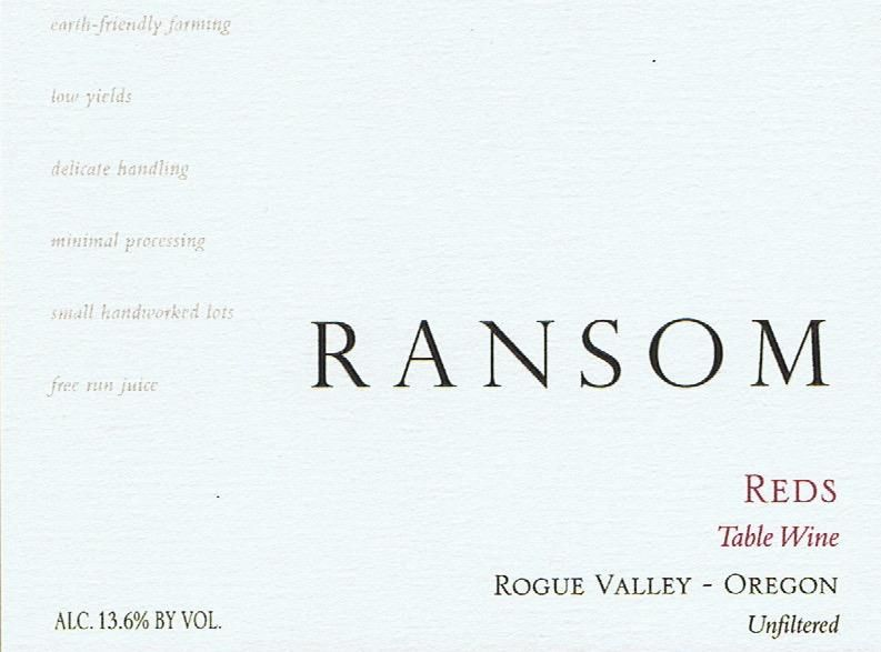 Ransom Reds 2017  Front Label