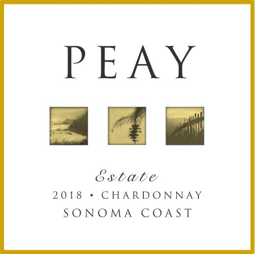 Peay Vineyards Sonoma Coast Chardonnay 2018  Front Label