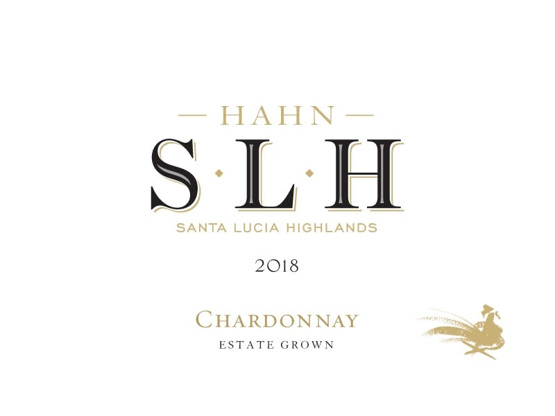Hahn Santa Lucia Highlands Chardonnay 2018  Front Label