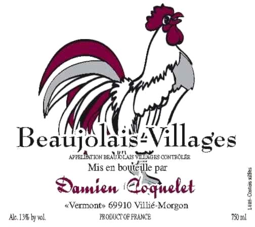 Damien Coquelet Beaujolais Villages 2012  Front Label
