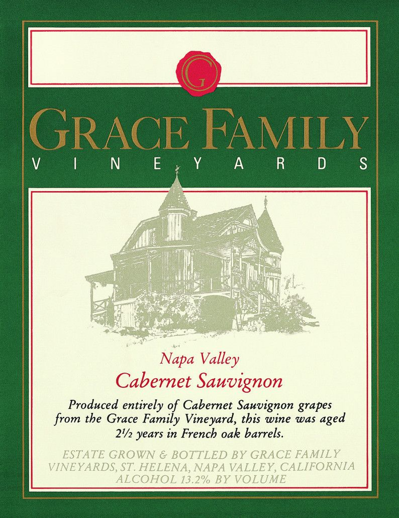 Grace Family Cabernet Sauvignon (1.5 Liter Magnum - chipped wax) 1990 Front Label