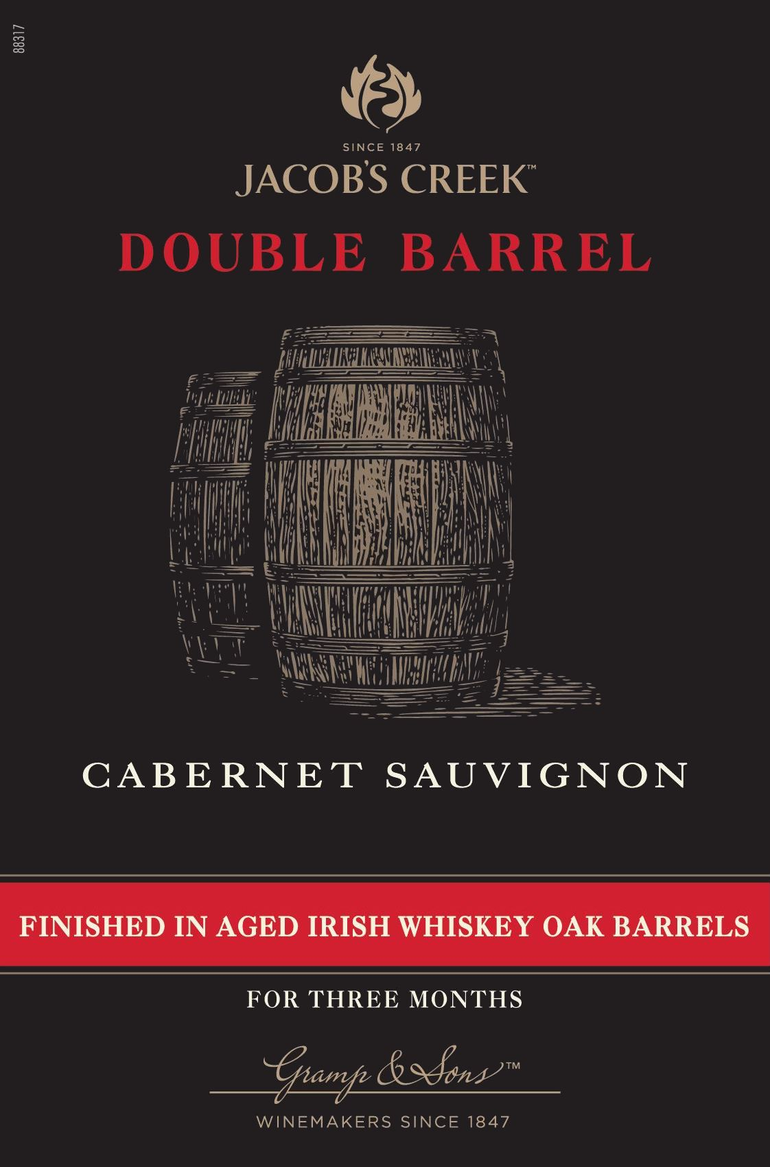 Jacob's Creek Double Barrel Cabernet Sauvignon 2017  Front Label