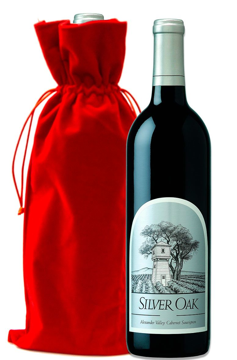 wine.com Silver Oak Alexander Valley Cabernet Sauvignon with Red Velvet Gift Bag  Gift Product Image