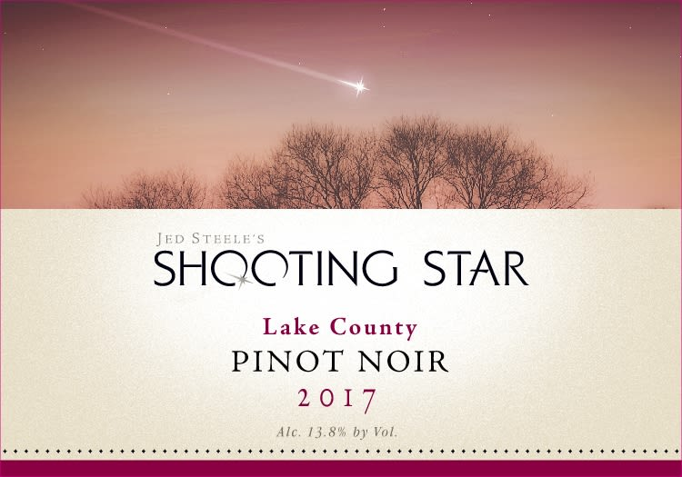Steele Shooting Star Pinot Noir 2017  Front Label
