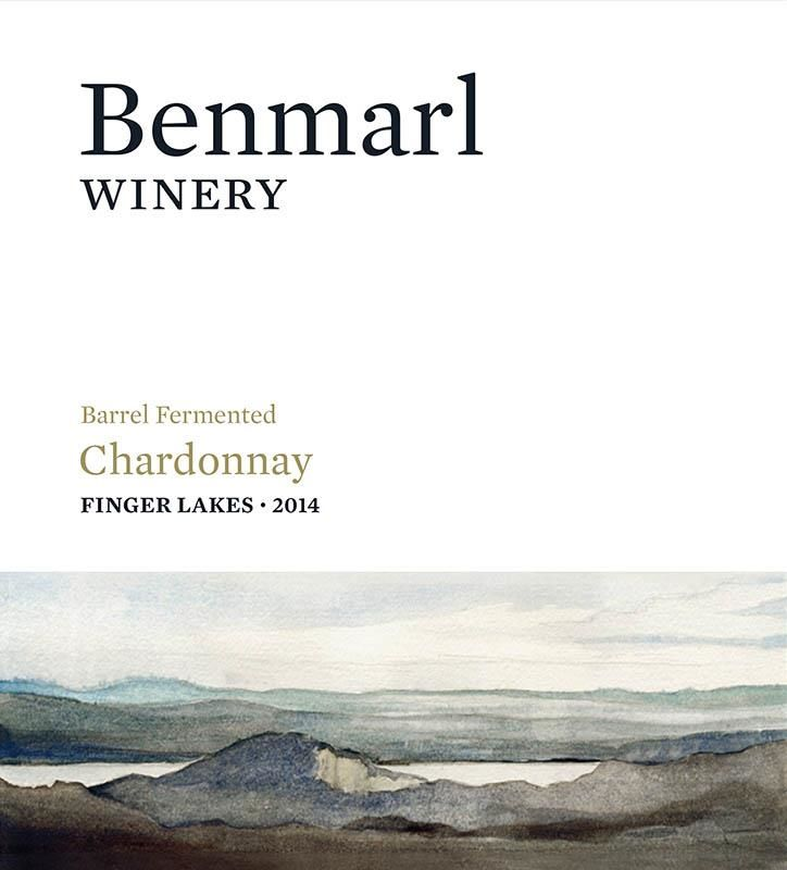 Benmarl Vineyards & Winery Barrel Fermented Chardonnay 2014 Front Label