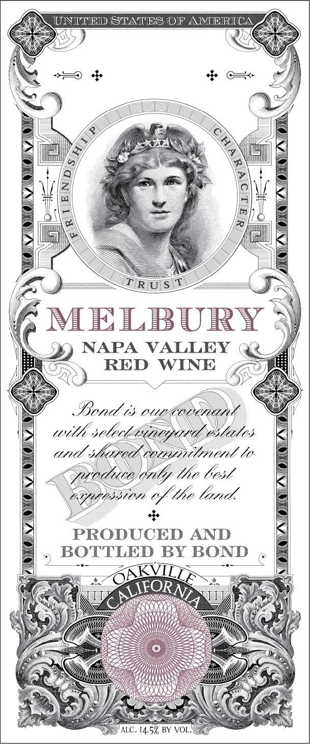 Bond Melbury 2016  Front Label