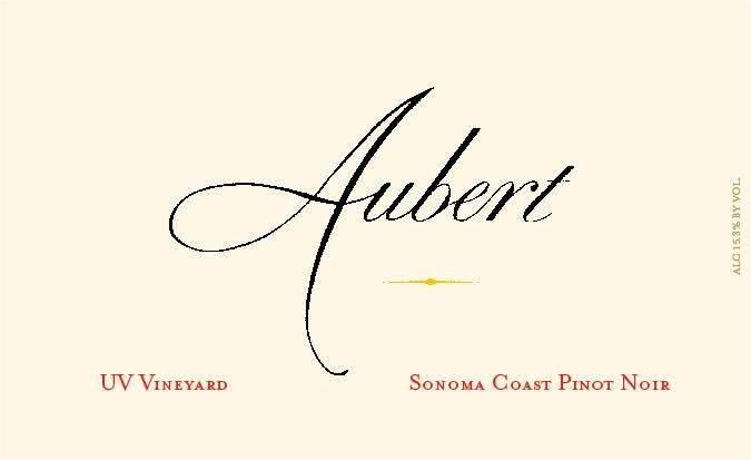 Aubert UV Vineyard Pinot Noir 2016 Front Label