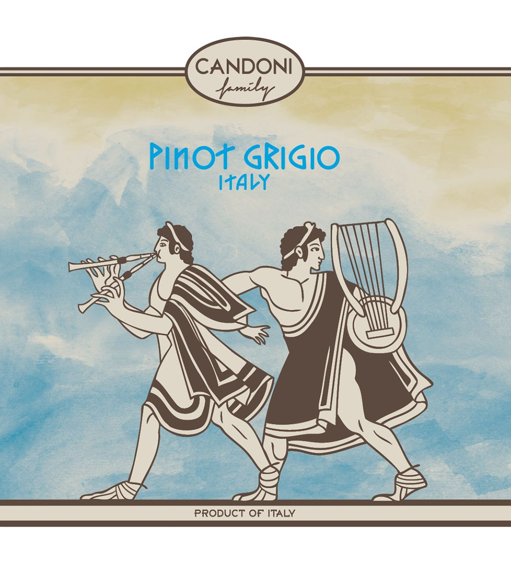 Candoni Pinot Grigio 2018  Front Label