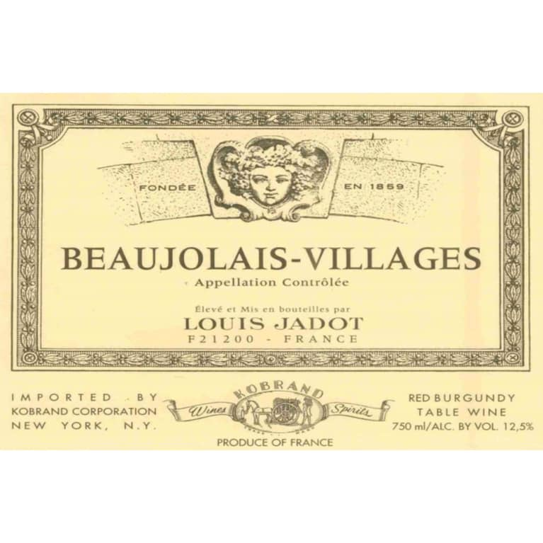 Louis Jadot Beaujolais Villages 2018  Front Label