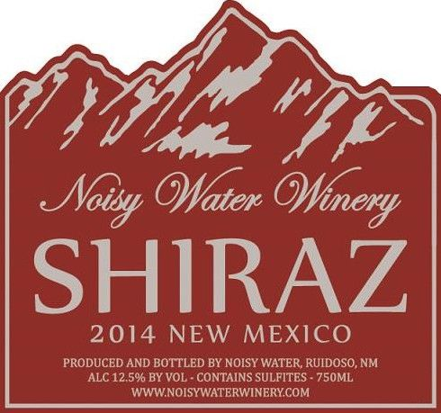 Noisy Water Winery & The Cellar Uncorked Shiraz 2014  Front Label