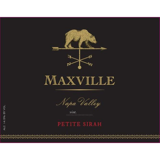 Maxville Petite Sirah 2015  Front Label