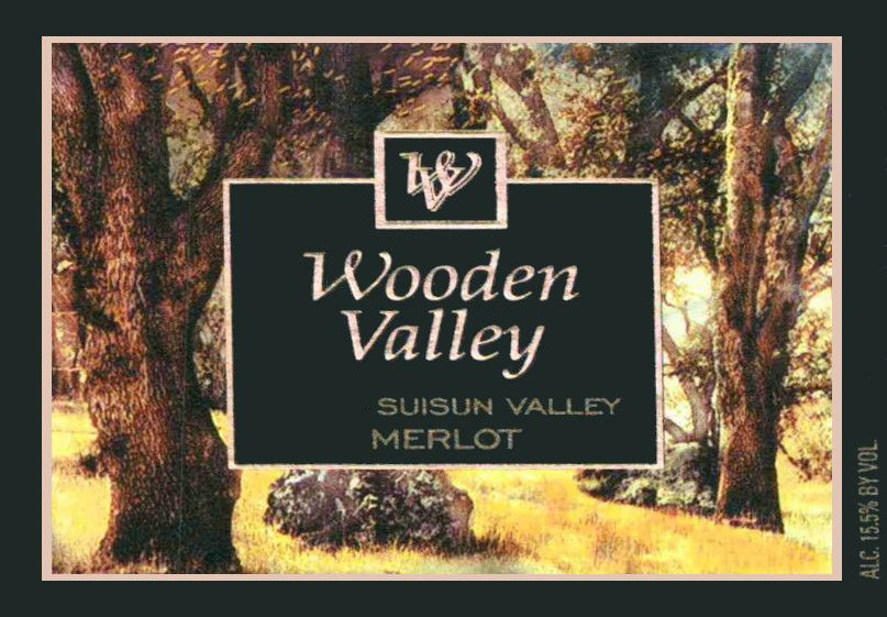 Wooden Valley Winery Merlot 2014  Front Label