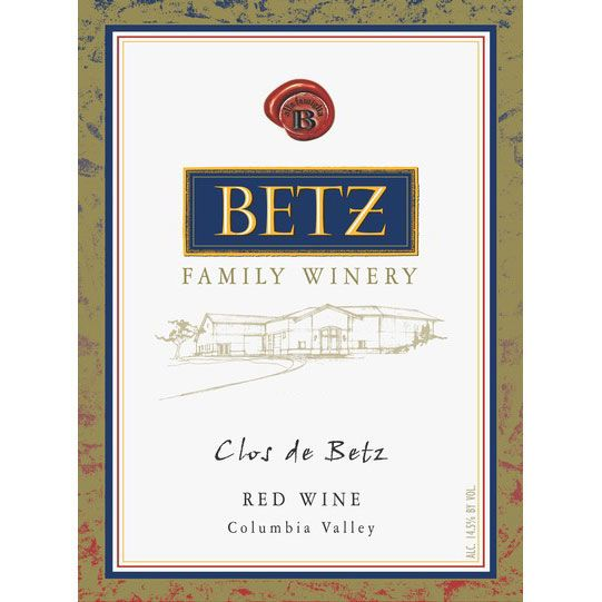 Betz Family Winery Clos de Betz 2016  Front Label