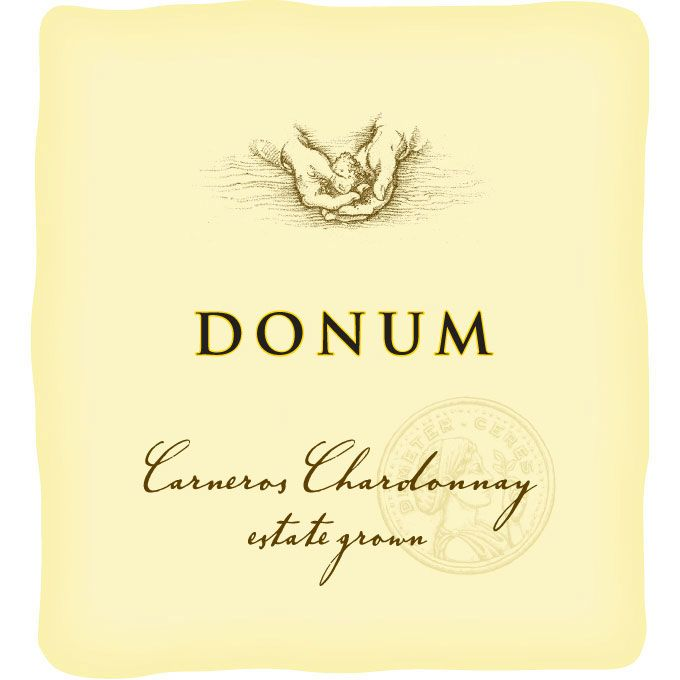 The Donum Estate Carneros Chardonnay 2015  Front Label
