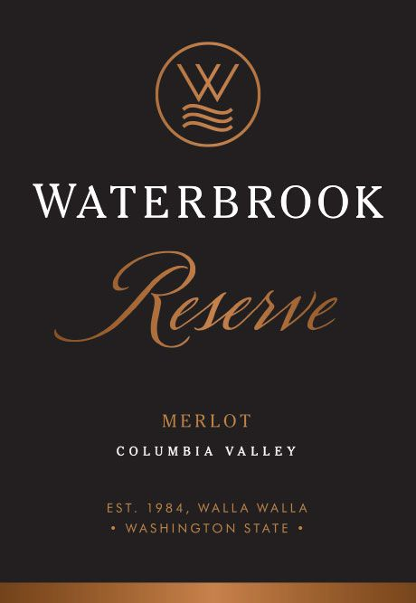 Waterbrook Reserve Merlot 2015  Front Label