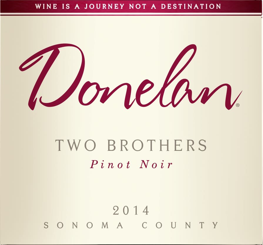 Donelan Two Brothers Pinot Noir 2014  Front Label