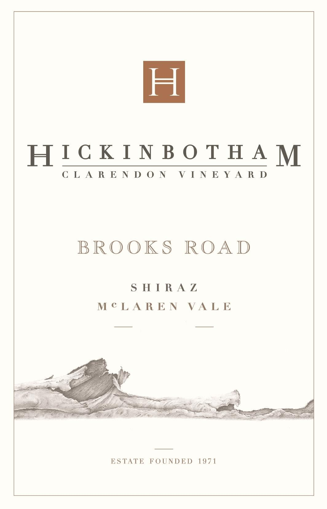 Hickinbotham Brooks Road Shiraz 2017  Front Label