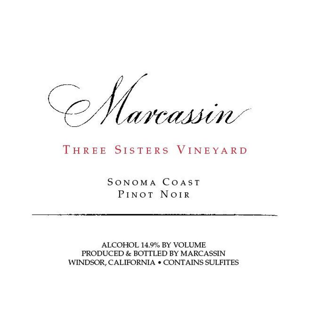 Marcassin Three Sisters Vineyard Pinot Noir 2006  Front Label