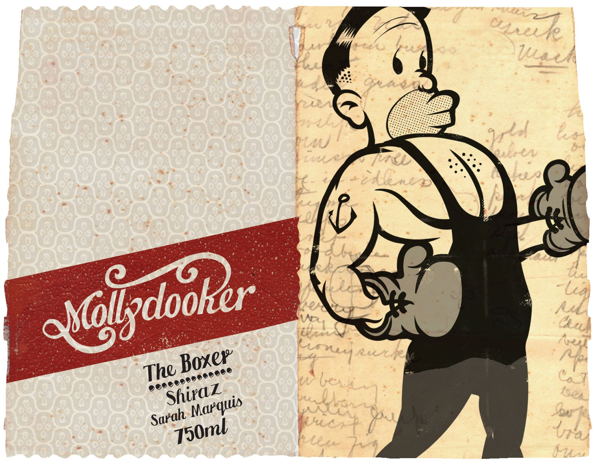 Mollydooker The Boxer Shiraz 2019  Front Label