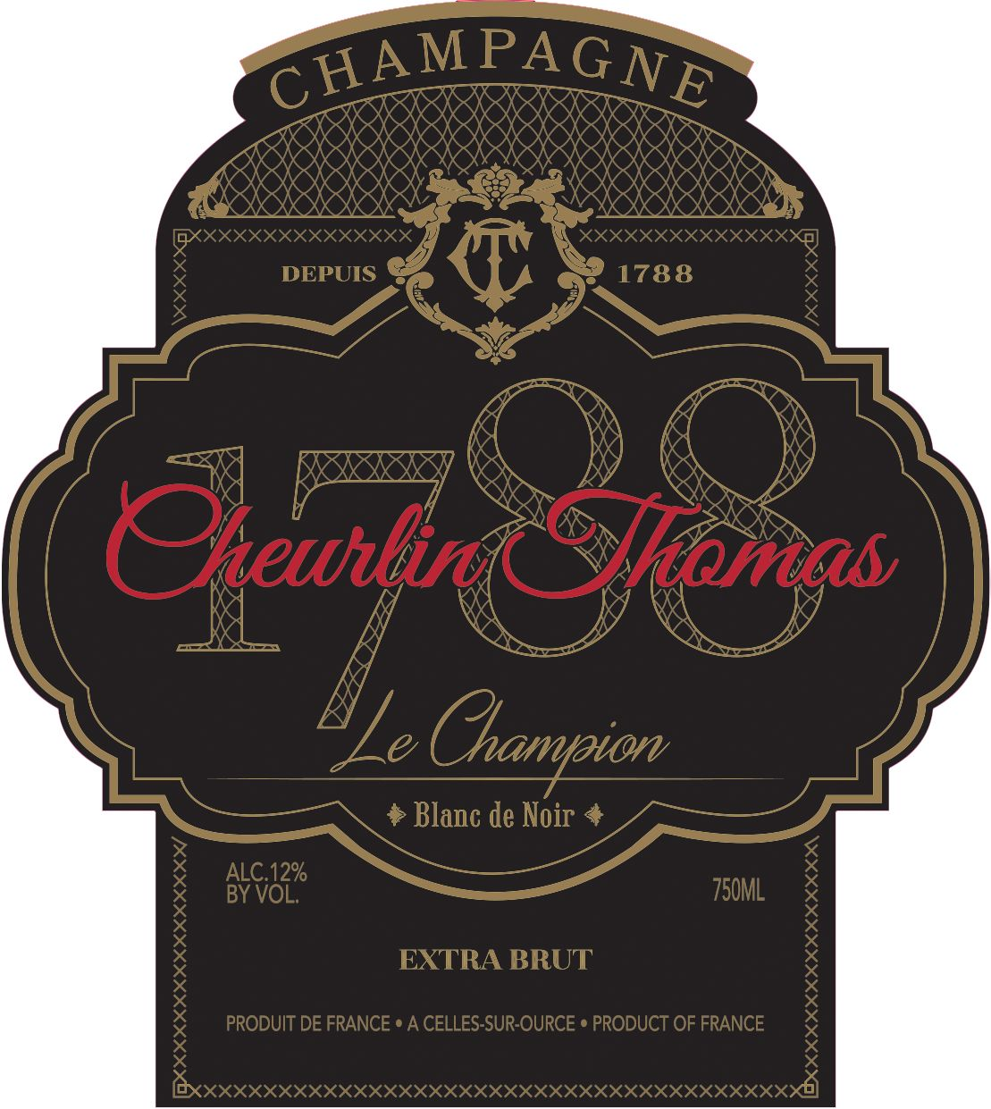 Cheurlin Thomas Le Champion Blanc de Noir Front Label