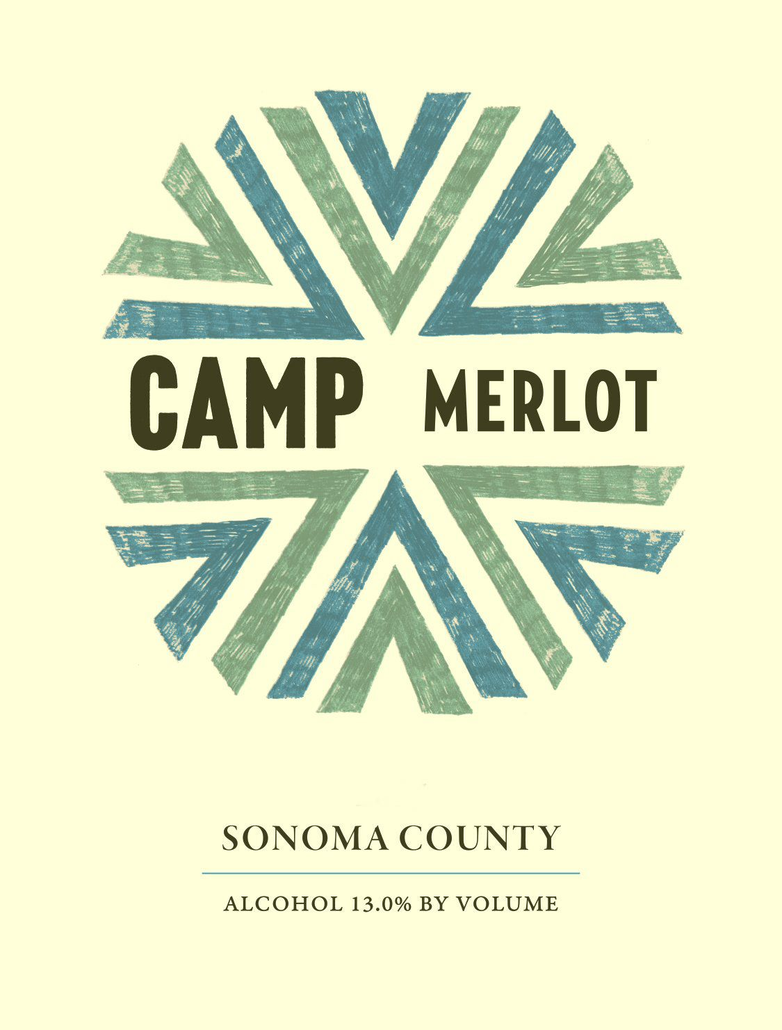 Camp Merlot 2018  Front Label