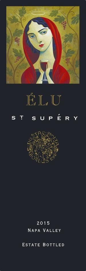 St. Supery Elu 2015  Front Label
