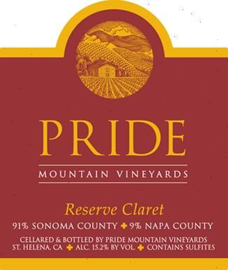 Pride Mountain Vineyards Reserve Claret 2007  Front Label
