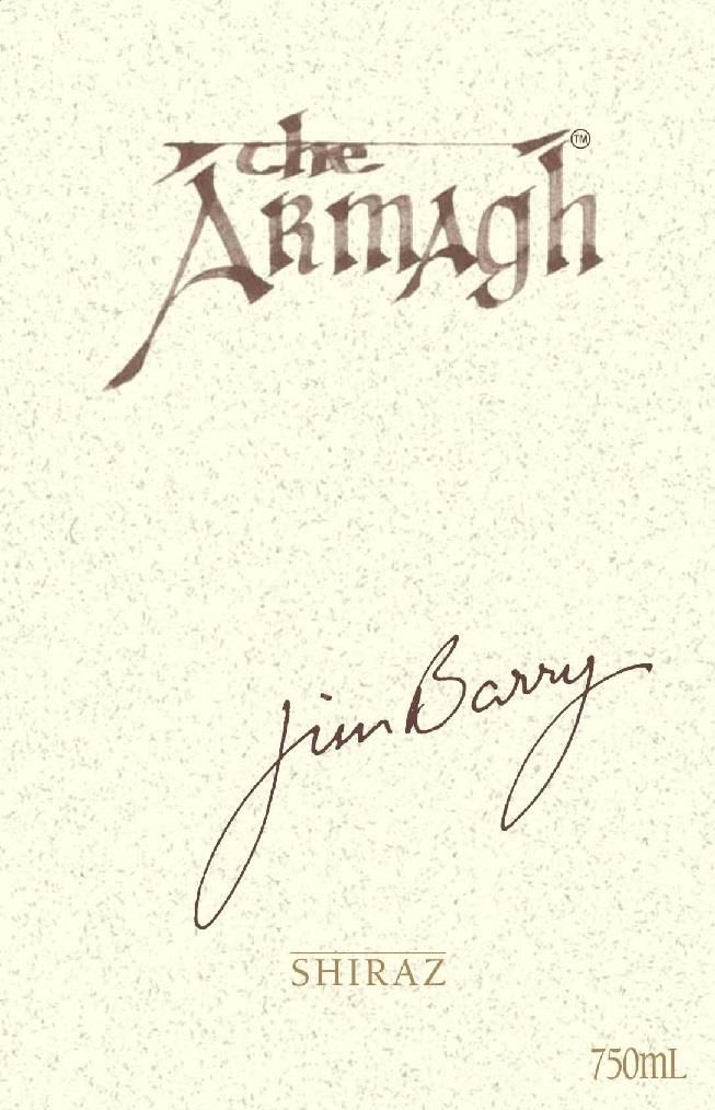 Jim Barry The Armagh Shiraz 2016  Front Label