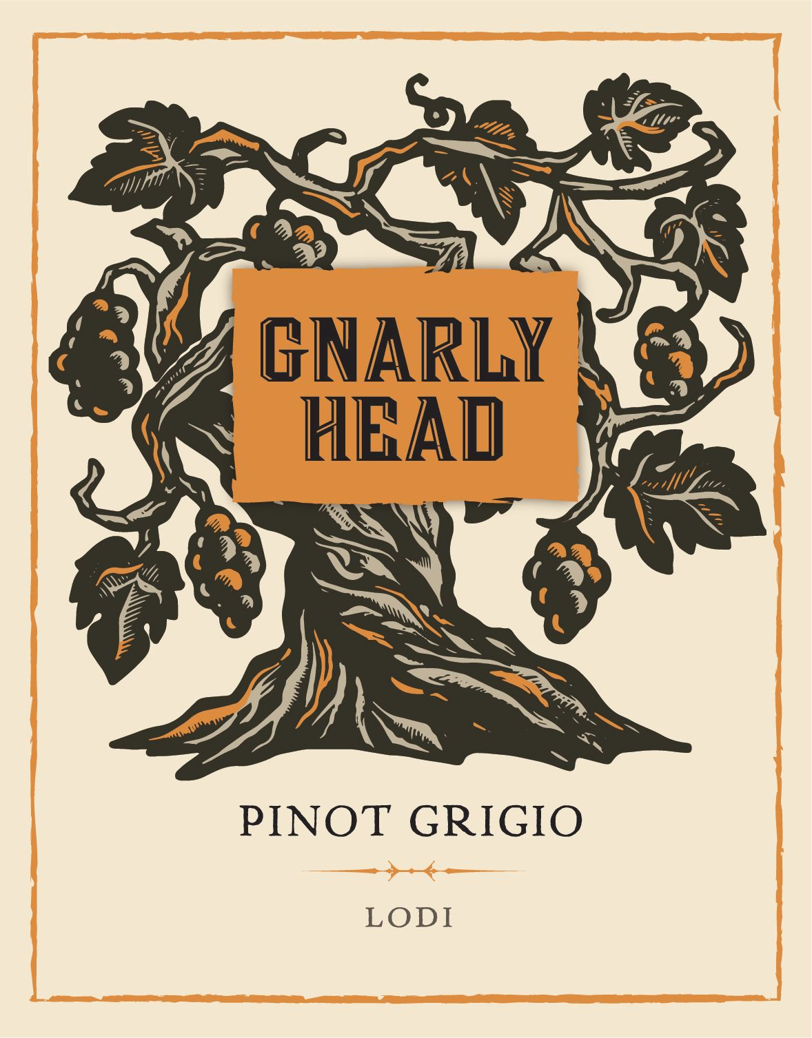 Gnarly Head Pinot Grigio 2018  Front Label