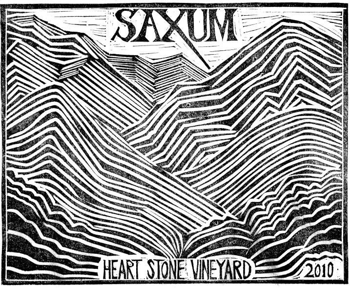 Saxum Heart Stone Vineyard 2010  Front Label