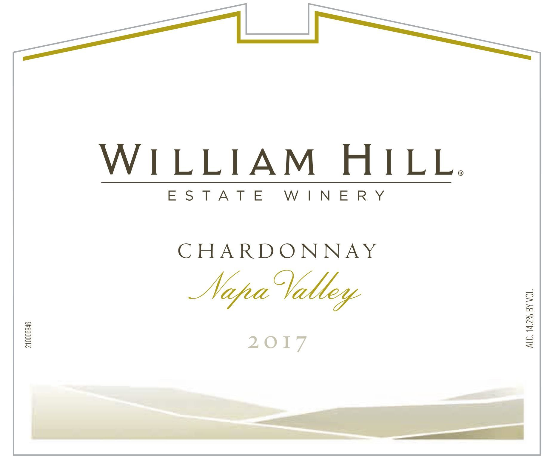 William Hill Napa Valley Chardonnay 2017  Front Label