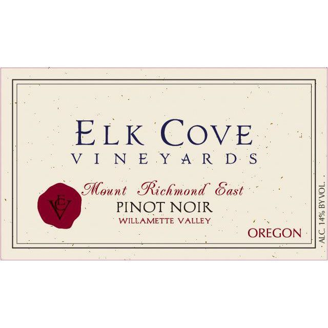 Elk Cove Mount Richmond Pinot Noir 2017  Front Label