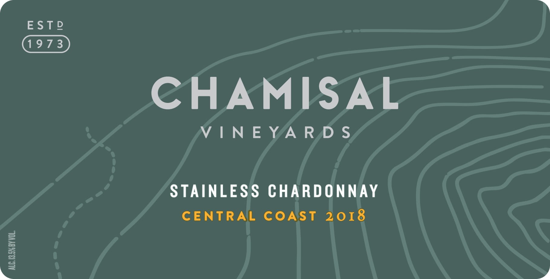 Chamisal Vineyards Stainless Chardonnay 2018  Front Label